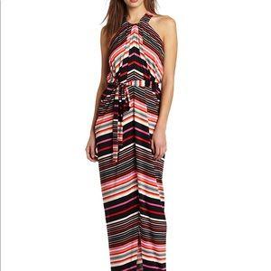 Multicolored jersey dress by suzi chin size 6